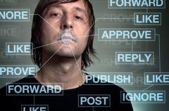 Social network addiction Stock Photos