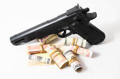 financial crime concept - stock photo