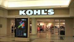 Kohls mall storefront Stock Footage