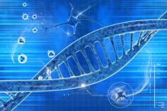 dna in beautiful background - stock illustration