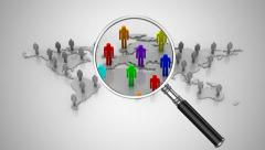 Search people in social networks Stock Footage
