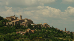 WS PAN Old town on hill / Montepulciano,Tuscany,Italy Stock Footage
