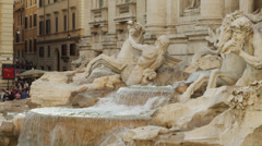 MS PAN Trevi fountain / Rome,Italy - stock footage