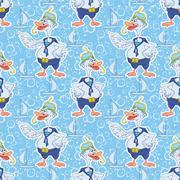 Seamless, cartoon goose divers - stock illustration