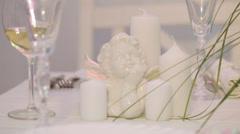 Porcelain angel Stock Footage