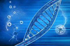 Dna in beautiful background Stock Illustration