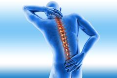 Spine pain - vertebrae trauma Stock Illustration