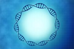 frame of the cell dna in beautiful background - stock illustration