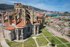 Church of Castro Urdiales, Cantabria, Spain. Stock Photos