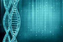 3d illustration of a dna in beautiful background - stock illustration