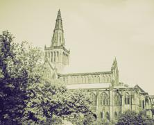 Stock Photo of Vintage sepia Glasgow cathedral