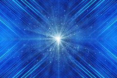 blue beautiful background with optical flare - stock illustration