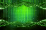 Stock Illustration of 3d illustration of a dna in beautiful background