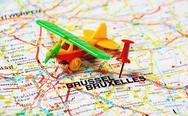 Stock Photo of bruxelles airplane