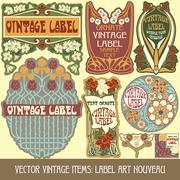 Label art nouveau Stock Illustration