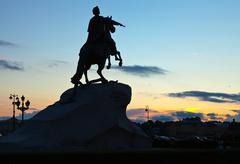 Equestrian statue of Peter the Great - stock photo