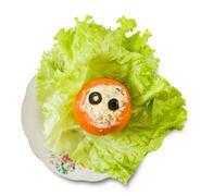 stuffed tomato salad. - stock photo