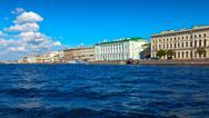 View of St. Petersburg. Palace Embankment Stock Photos