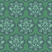 Retro wallpaper seamless - stock illustration