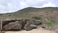 Stock Video Footage of Island of Aruba Rocks