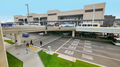 Tom Bradley International termina at Los Angeles International Airport LAX. Stock Footage