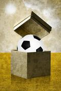Stock Illustration of soccer in the open box