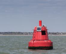 Red buoy - stock photo