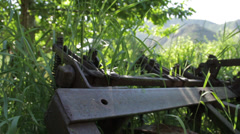 Old Farm Plow Stock Footage
