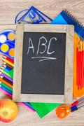 Black board with ABC Stock Photos