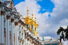 Catherine Palace in Tsarskoye Selo - stock photo