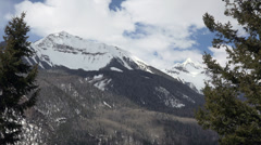Colorado Rocky Mountains snow peak and forest HD 280 Stock Footage