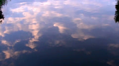 River Reflection at Sunset Stock Footage
