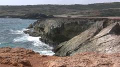 Aruba Natural Bridge Stock Footage
