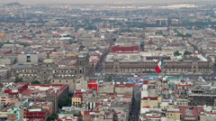 View on Zocalo in Mexico City - stock footage