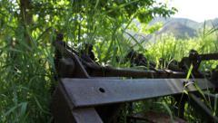 Old Farm Plow (Slow) Stock Footage