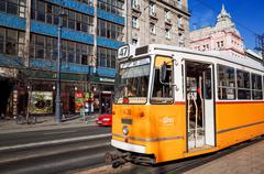 Typical,tramway in budapest, Stock Photos