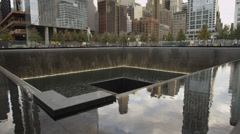 MS September 11 2001 memorial / Manhattan, New York City, New York State, USA Stock Footage