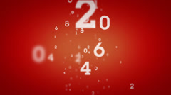 Random Numbers Rising Red Stock Footage