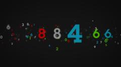 Random Numbers Tracking Black Stock Footage