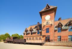 railway  at Far west town - stock photo