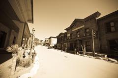 Far west town - stock photo