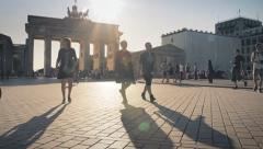 Berlin Sunset Walk Stock Footage
