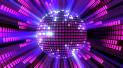 Disco Ball Equalizer 01 Stock Footage