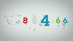 Random Numbers Tracking White Stock Footage
