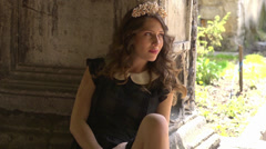Beautiful ukrainian girl posing Stock Footage