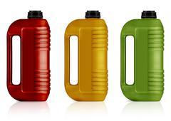 Plastic gallon - stock photo
