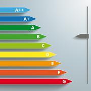 Energy efficiency aplus g interactive Stock Illustration