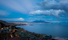 Stock Photo of Naples by Night