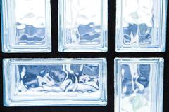 Glass brick wall Stock Photos
