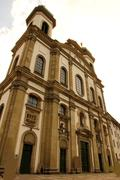 the jesuit church in lucerne. - stock photo